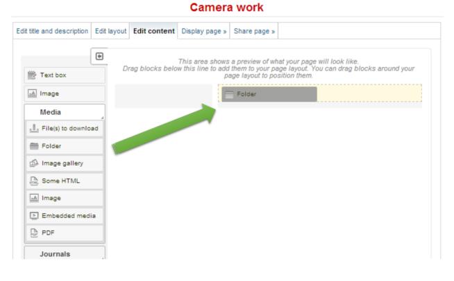 3) Add content - Solent myPortfolio