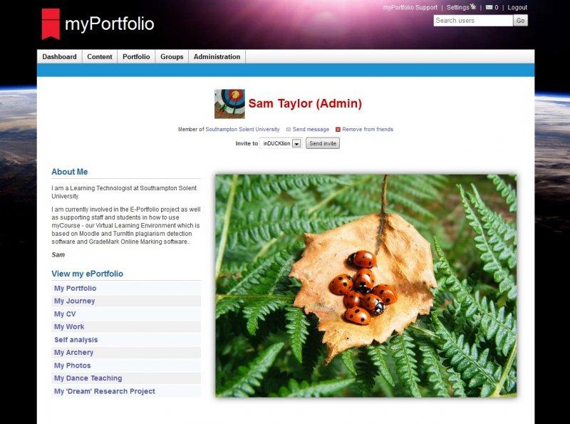Examples Of Eportfolios Solent Myportfolio